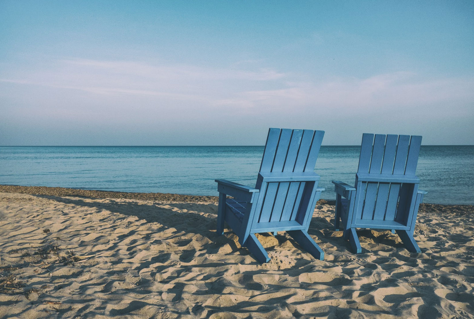 retirement: picture of two beach chairs